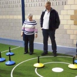 Curling auf Teppich