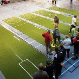 Curling on carpet