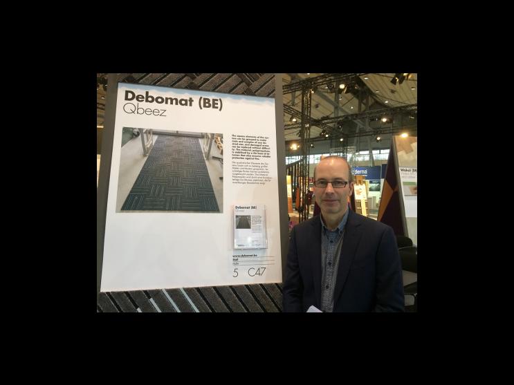 Debomat op Domotex 2017 genomineerd  met de Q-Beez tot innovatie van 2017