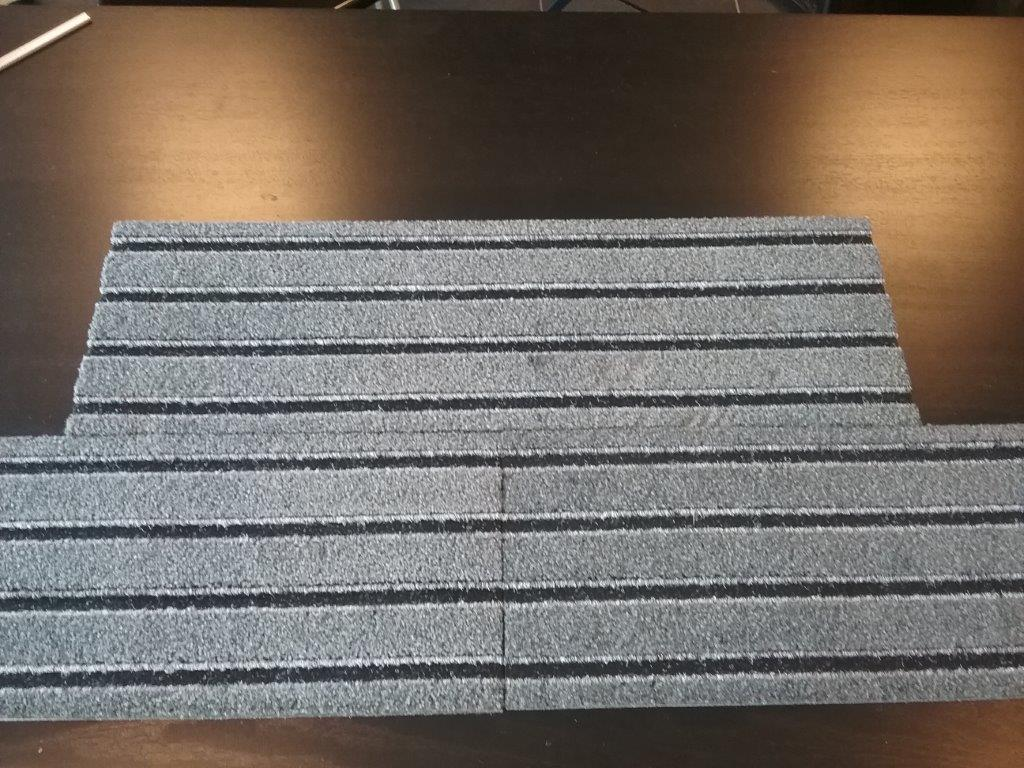 Tapis d'entrée Q-Beez 23,5 x 75 cm sens aluminium
