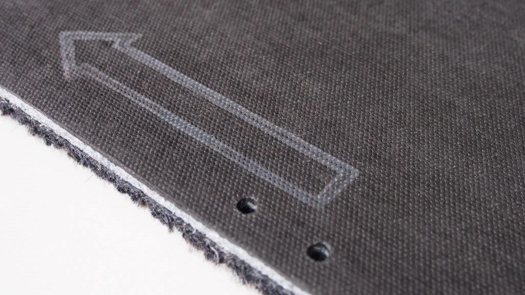Entrance mat Q-Beez 23,5 x 75 cm with aluminium